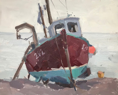 #247 'Fishing Boat, Beer' 8×10″