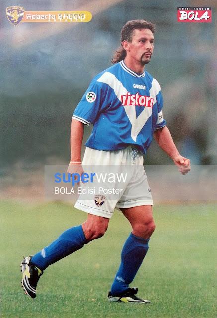 Poster Roberto Baggio Brescia 2000