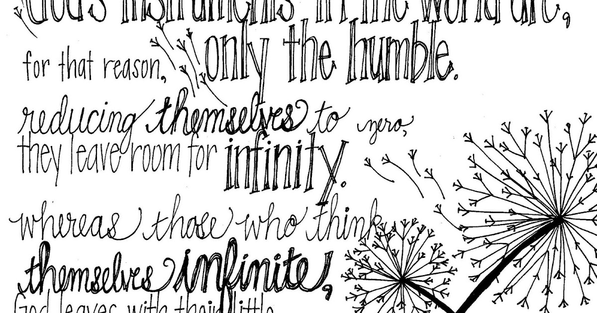 Look to Him and be Radiant: Sheen Coloring Page- Humility