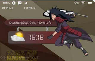 6 Template ZW Anime Naruto For Zooper Widget Pro Android Tutor pasang
