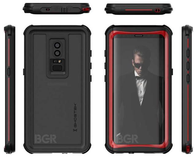 تصميم  يشير إلى قدوم هاتف جالاكسي أس 9  بقارئ بصمة الأصبع في الخلف