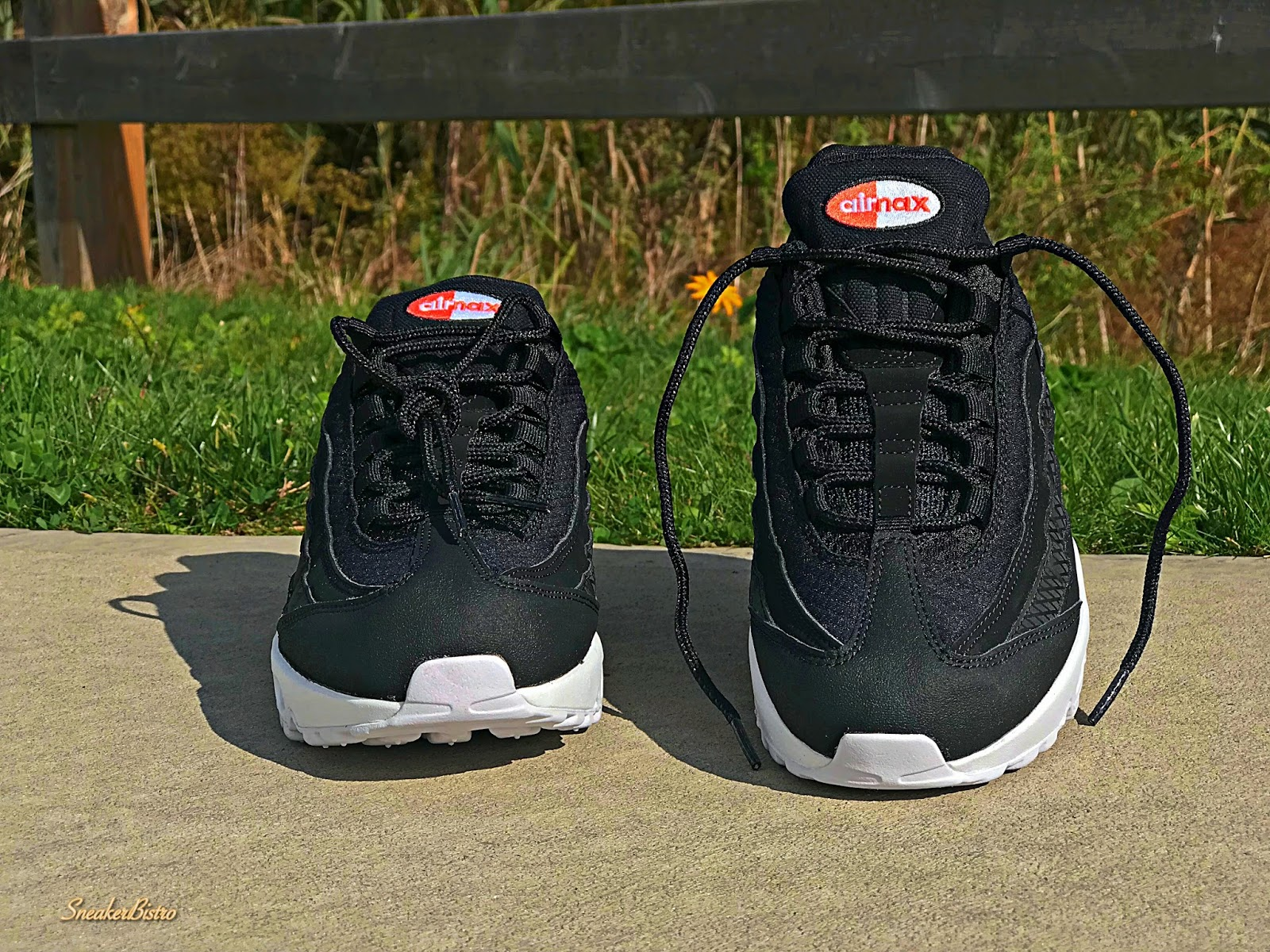 3a3214fcc81deb Nike Air Max 95 Premium SE Black Black-White-Team Orange. Release Info