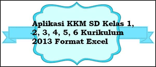 Aplikasi KKM SD Kelas 1, 2, 3, 4, 5, 6 Kurikulum 2013 Format Excel