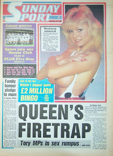 Sunday Sport newspaper front page