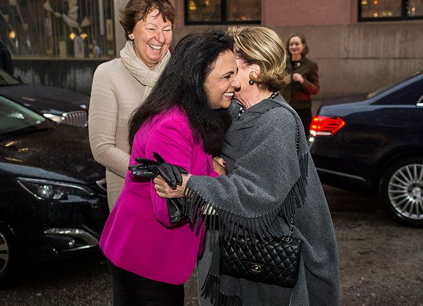"Queen Sonja attended a conference on ""Integration and Gender Equality"" held by Mira at Håndverkeren Centre"
