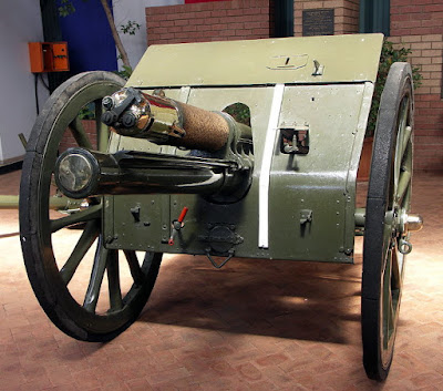The 18 pounder - a field artillery gun used in the 1st world war