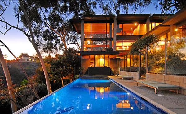 wonderful unique luxury glass home designs   LOS ANGELES GORGEOUS LUXURY GLASS HOUSE DESIGN WITH WOOD ...