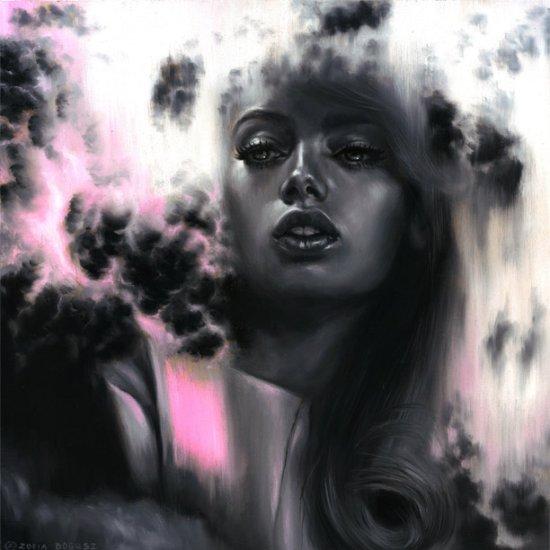 Zofia Bogusz arte pinturas surreais mulheres beleza etéreas