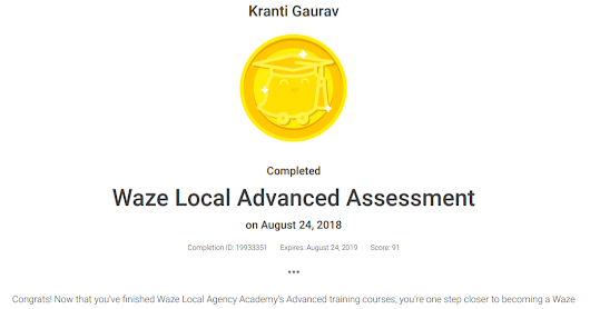 Waze Local Advanced Solutions - Kranti Gaurav