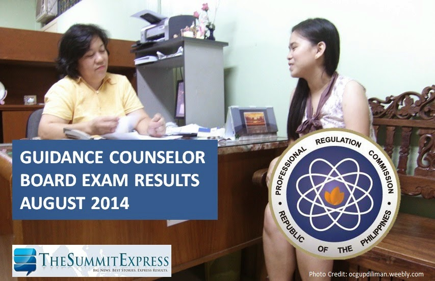 List of Passers: Guidance Counselor board exam results (August 2014)
