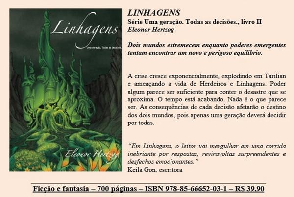 livro, Linhagens, capa, sinopse