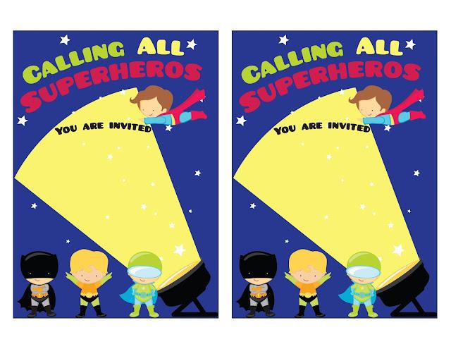 Para hacer invitaciones, tarjetas, marcos de fotos o etiquetas, para imprimir gratis de ¡Llamando a todos los Super Hëroes!