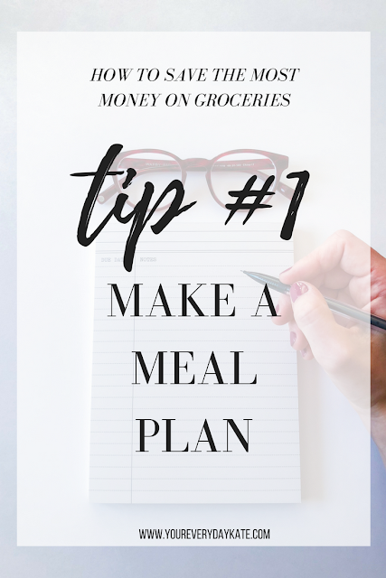 TIP MAKE A MEAL PLAN