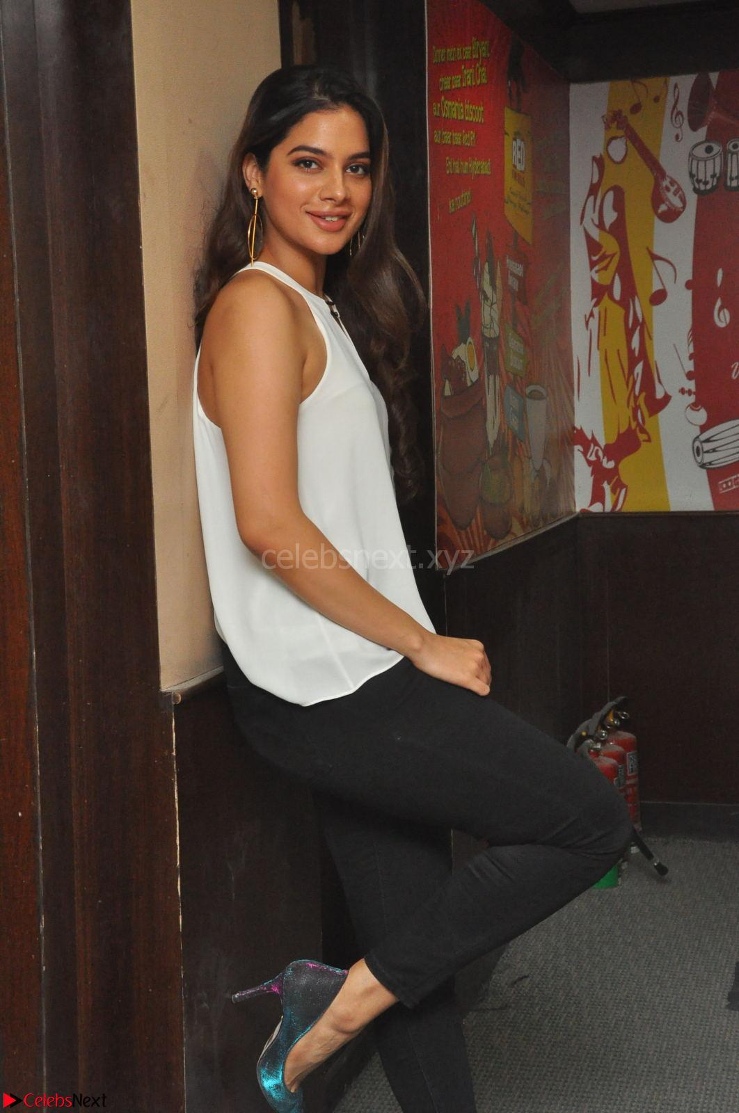 Tanya Hope in a whtie shirt and leggings at Song launch of Movie Patel Sir ~ CelebsNext Exclusive Celebrities Galleries