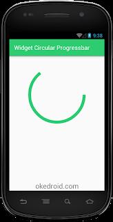Hasil widget Circular Progressbar Android