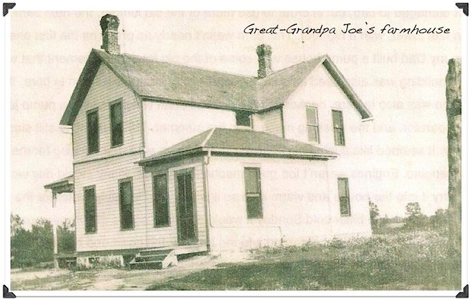 black and white photo of farmhouse in rural minnesota