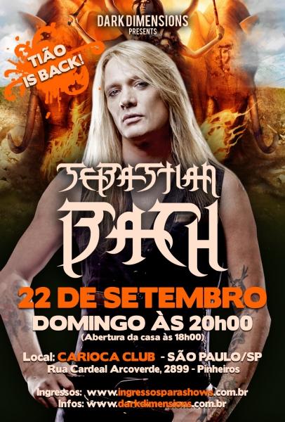 Sebastian Bach em São Paulo