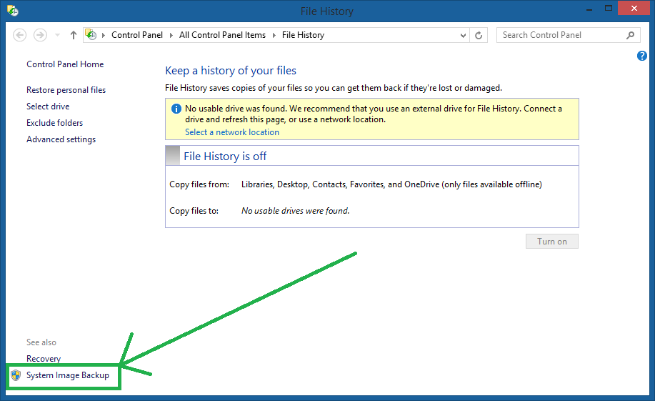 Cara Membuat System Image Windows 8.1