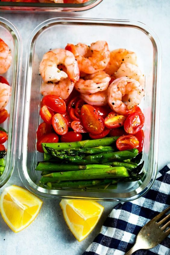 One-Sheet Pan Shrimp with Cherry Tomatoes and Asparagus is delicious and super-easy to make. You'll be amazed at how only 5 ingredients can make a healthy meal-prep for your entire week. You only need