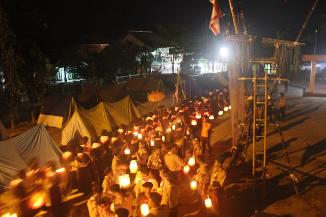 Pawai Lampion MA Nurul Huda Kawali
