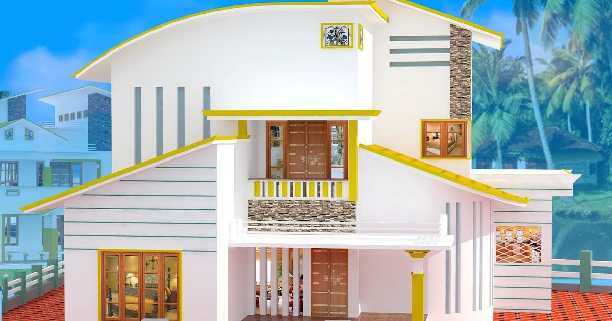 1669 kerala modern curved roof house design kerala for Curved roof house designs