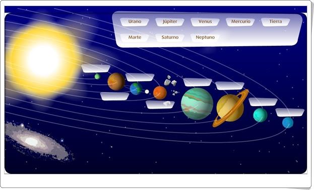 """""""Los planetas del Sistema Solar"""" (Juego de Ciencias Sociales de Primaria)"""