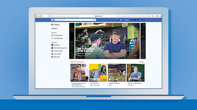 notebook com facebook watch, dois homens conversando, print do facebook watch