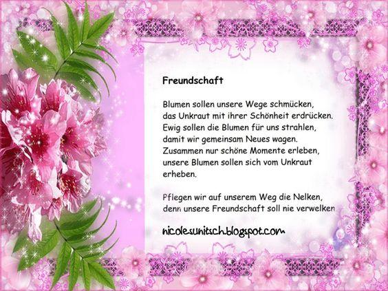 Gedichte Von Nicole Sunitsch Autorin Freundschaft Gedicht