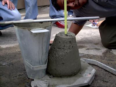 slump test do concreto