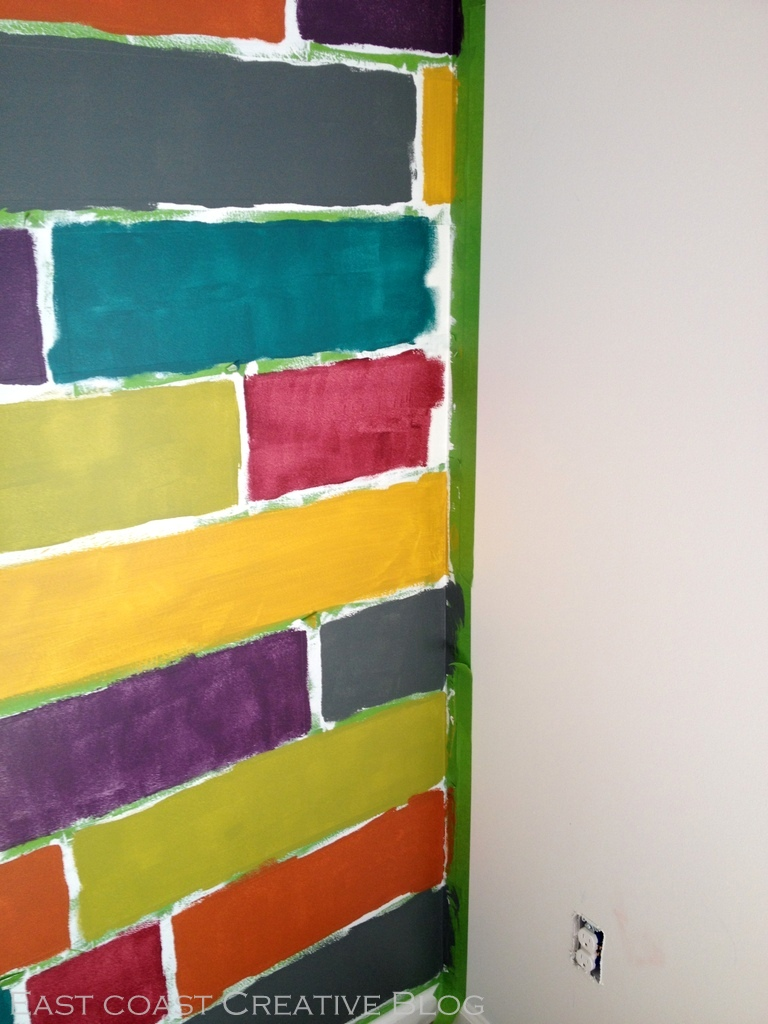How To Paint A Mosaic Accent Wall Bedroom Makeover