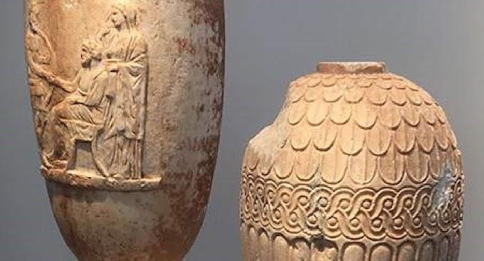 Για τον επαναπατρισμό δύο σπάνιων λεηλατημένων αρχαίων ελληνικών αγγείων