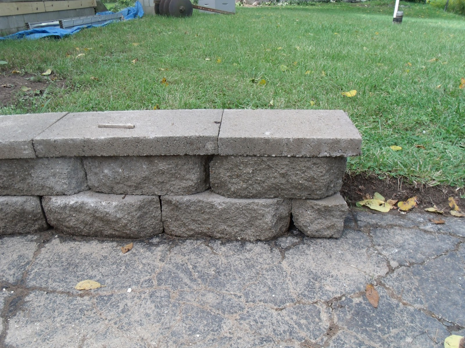 Gear Acres: Cutting Retaining Wall Blocks and a Driveway Surprise