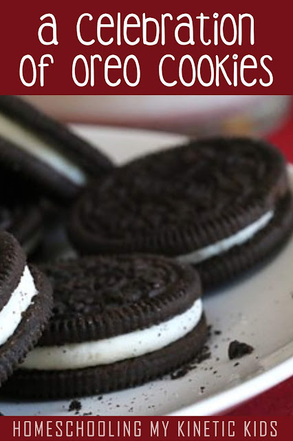 A Celebration of Oreo Cookies // Homeschooling My Kinetic Kids // March 6th is National Oreo Cookie Day!  Celebrate the iconic sandwich cookie with over 20 recipes and ideas for learning.  Perfect for homeschoolers and fun classrooms.