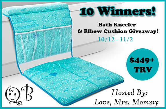 10 Winner QueBébé Bath Kneeler and Elbow Cushion Giveaway! 11/2