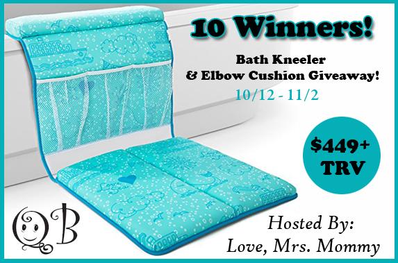 10 Winner QueBébé Bath Kneeler and Elbow Cushion Giveaway! 11/2