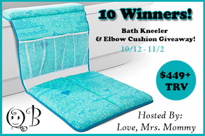 Enter the QueBébé Bath Kneeler and Elbow Cushion Giveaway. Ends 11/2
