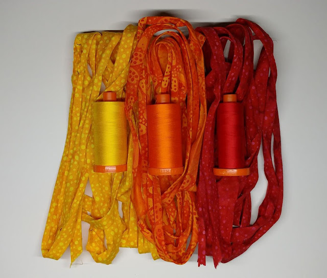Spirograph quilt using Island Batik fabrics and Aurifil thread