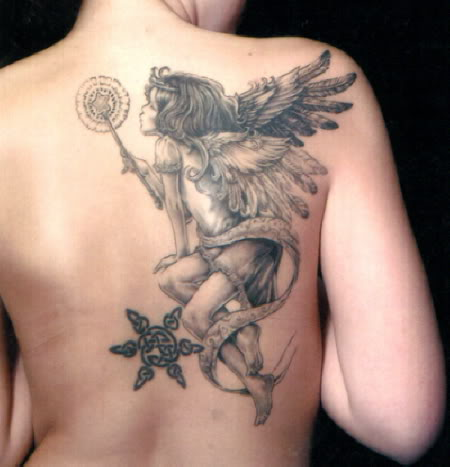 angel tattoo for girls -#main