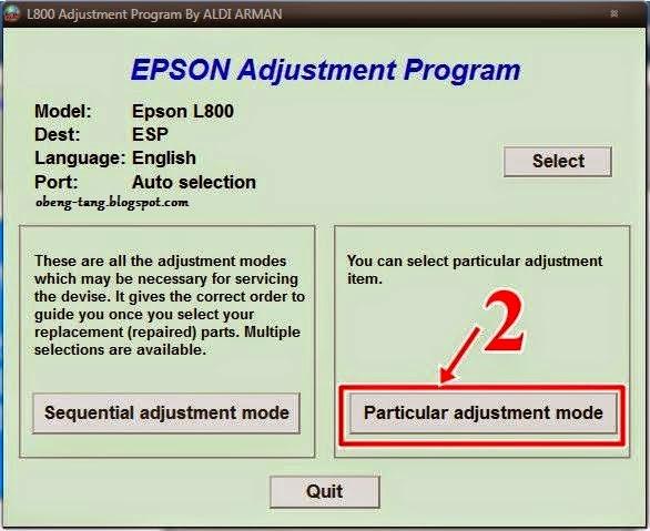 Cara Reset Printer Epson L800