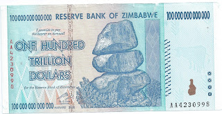 Zimbabwe $100 Trillion Dollar Bill