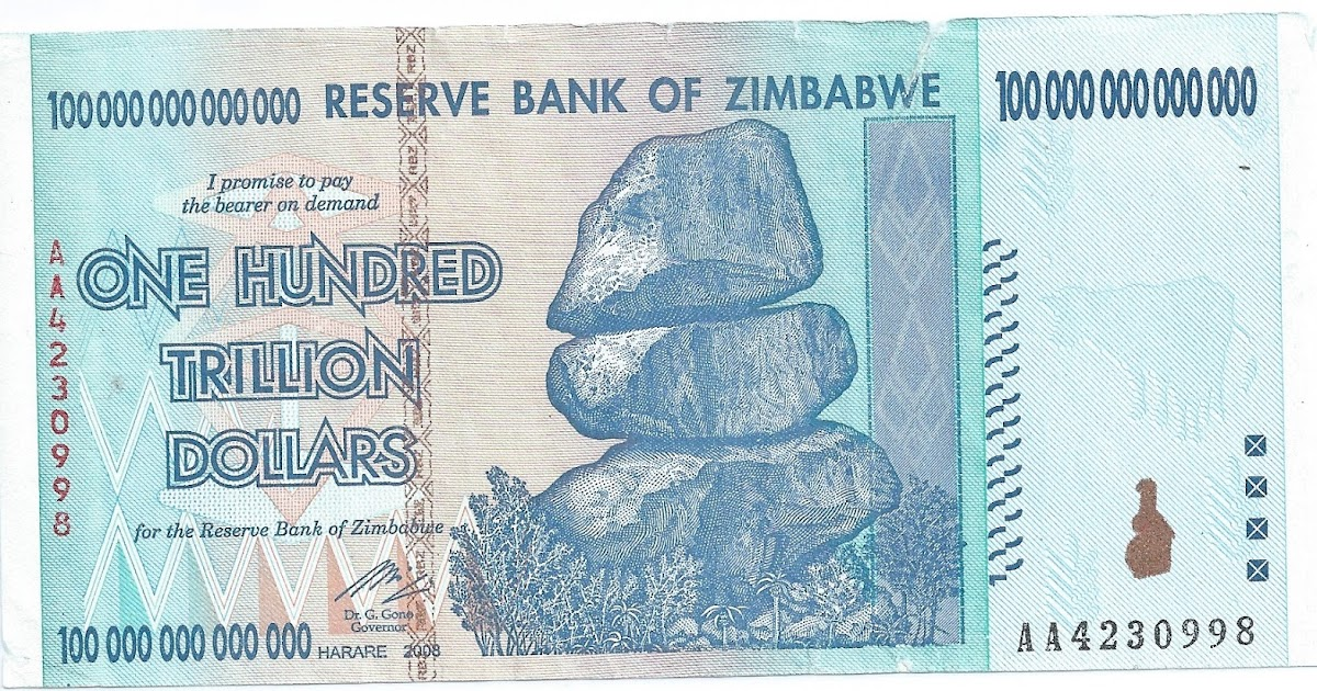 Stockerblog - The Stock Market Blog: Zimbabwe 100 Trillion ...