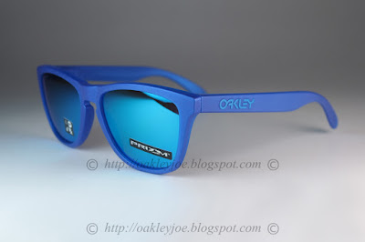 5b33d587a4 OO9013-C755 Frogskins Spectrum Collection x ray blue + prizm sapphire  iridium $195 lens pre coated with Oakley hydrophobic nano solution