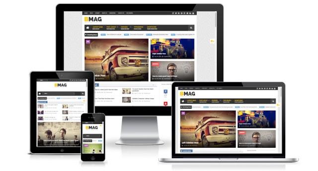 Bmag премиум шаблон для blogger