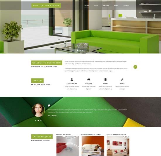Furniture Html Templates Interior Design & Furniture Website Templates 2016 ...