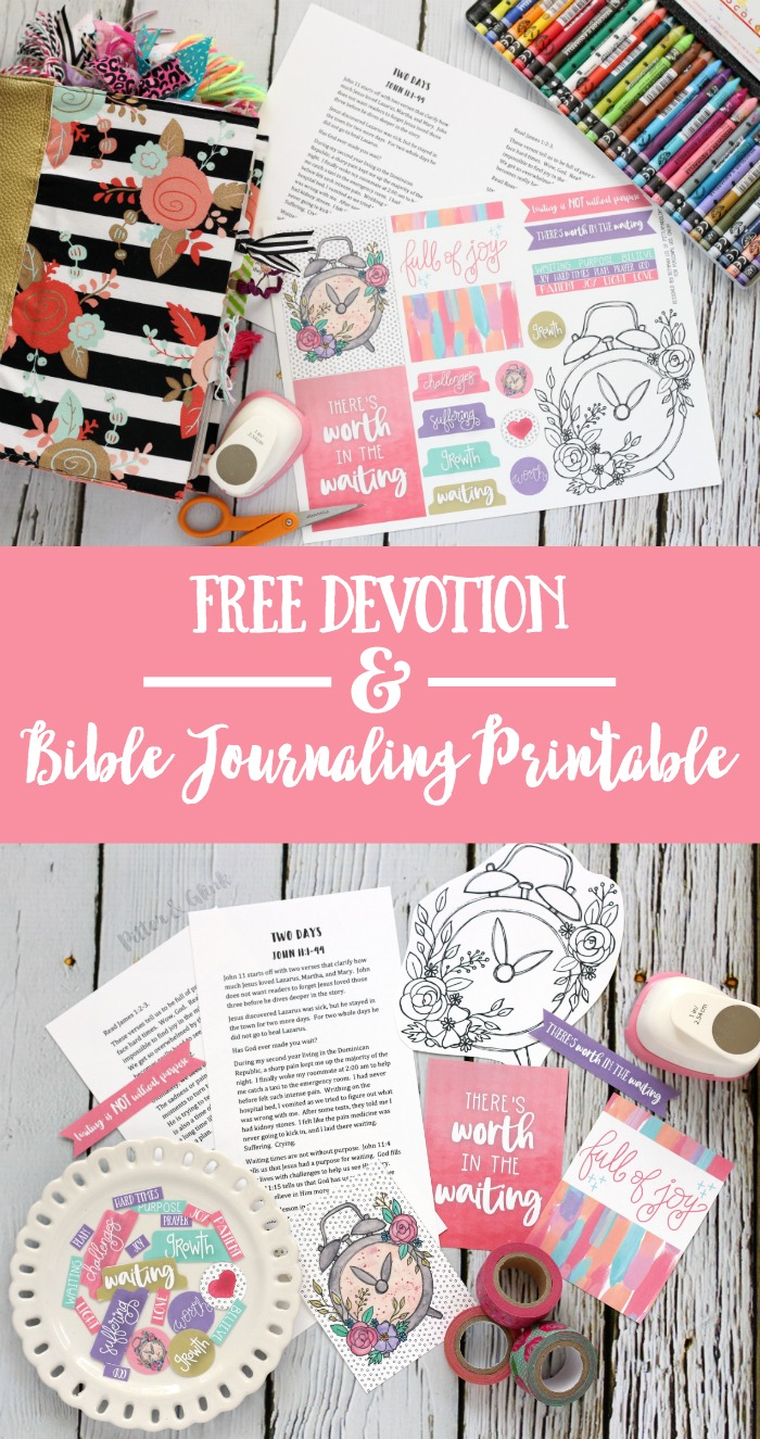 "Free ""Two Days"" Devotion + Bible Journaling Printable"