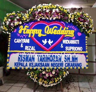 Bunga Papan Happy Wedding (WS-045)
