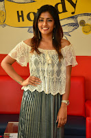 Eesha in a cute deep neck top and Skirt at at Big FM 080.JPG