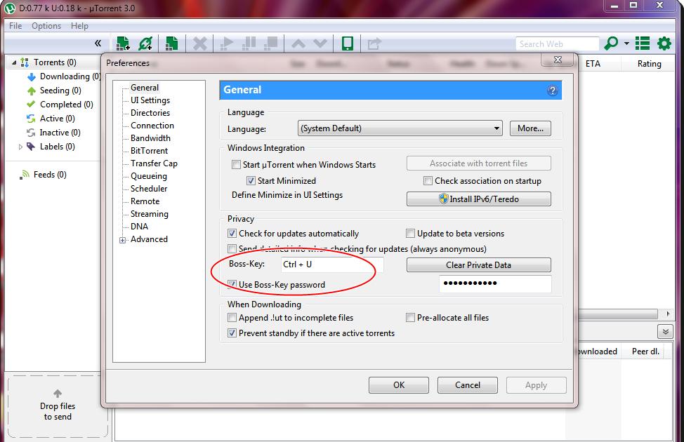 open a torrent file on utorrent