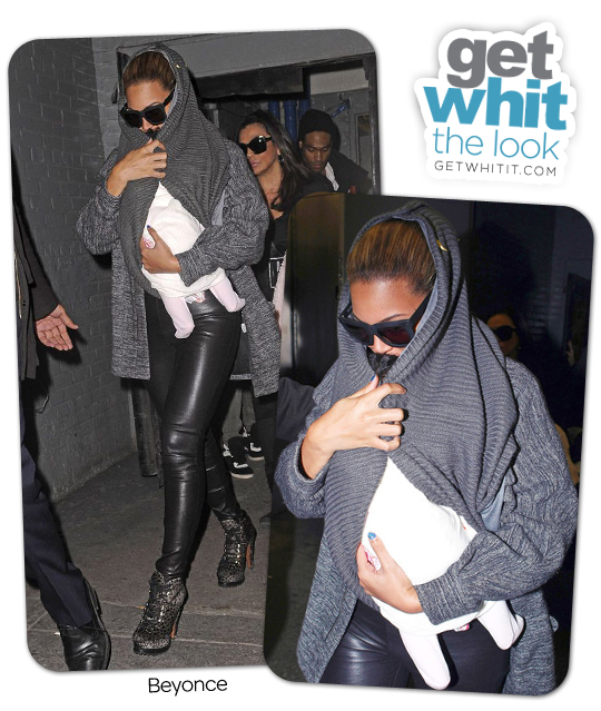 5eb7fcced6e Look for Less  Beyonce s Azzedine Alaia Lace-Up Boots and Grey Ant  Sunglasses