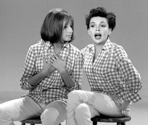 "Barbra Streisand en ""The Judy Garland Show"","